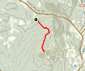 Okemo Mountain via Healdville Trail Map