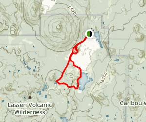 Butte Lake-Snag Lake-Cinder Cone Loop Map