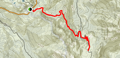 Noble Lake Via PCT Map