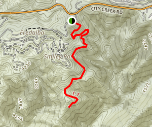 Fredalba Trail Map