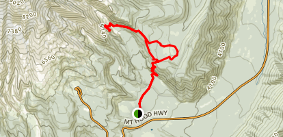 Gnarl Ridge and Elk Meadows Trail Loop Map
