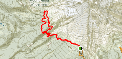 Pacific Crest Trail to Paradise Park Loop 757 Map
