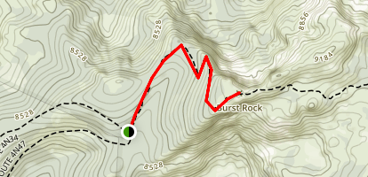 Burst Rock Trail Map