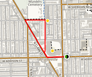 Wrigleyville Cultural Walking Tour Map