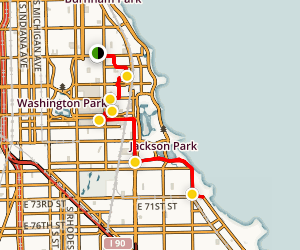 Hyde Park, Kenwood, and South Shore Neighborhoods Walking Tour Map