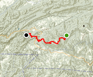 Appalachian Trail: Whitetop Mountain to Green Cove Creek Map