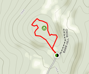 Barr Hill Trail Map