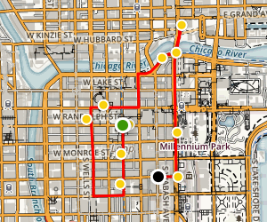 Public Outdoor Art Walking Tour Map