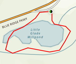 Little Glade Mill Pond Trail Map