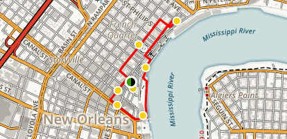 Family Friendly French Quarter Walking Tour Map
