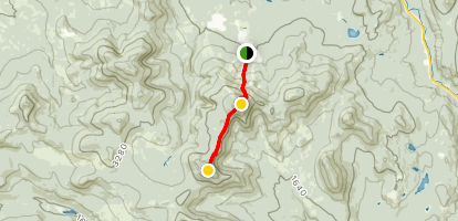 Spaulding Mountain via Sugarloaf Ski Resort and Appalachian Trail Map