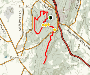 Greenbrier State Park to Washington Monument Loop and Appalachian Trail Map