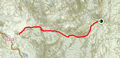 Hankins Pass Trail Map