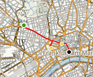 Frankfurt Family Friendly Walking Tour with Kids Map
