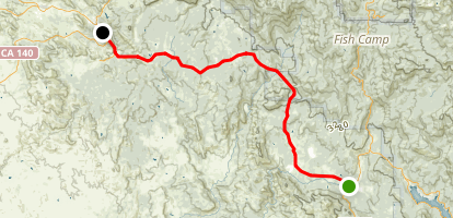 Oakhurst to to Mariposa Scenic Drive Map