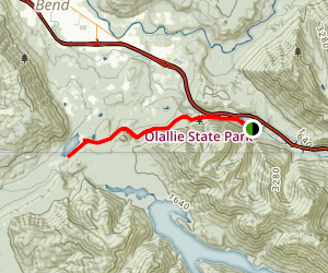 Iron Horse Trail from Olallie State Park to Rattlesnake Lake Map