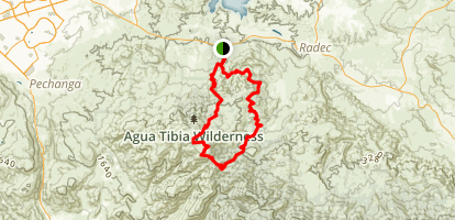 Agua Tibia Full Loop Trail Map
