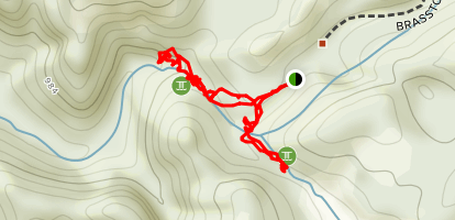 Brasstown Waterfall Series Trail Map