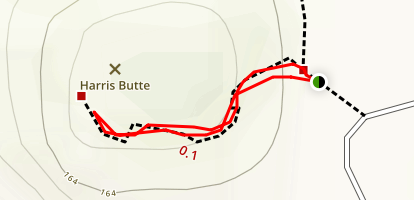 Harris Butte Trail Map