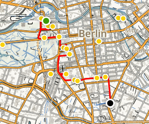 Berlin Highlights Walking Tour Map