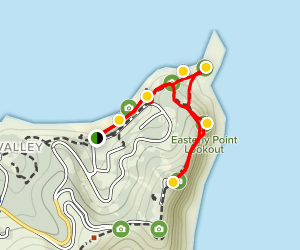 Byron Bay Lighthouse Walk Map
