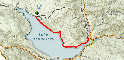 Lake Hennessey Shoreline Trail Map