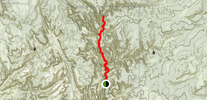 Zion Narrows Trail to Upsilon Temple Map