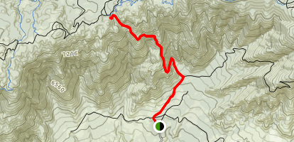 Seven Oaks Trail to Grand View Point Map