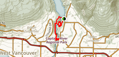Capilano River Regional Park Loop Map