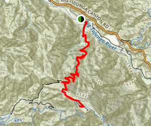 Mount Lukens via Stone Canyon Map