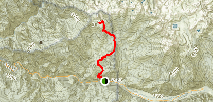 Deer Cove Trail to Grizzly Lakes Map