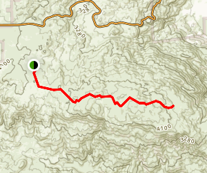 Pinyon Ridge Trail to Mt. Wilson Map