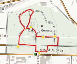 Historic Oakland Cemetery Map