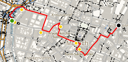 Architectural Walking Tour of Munich Map