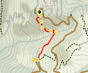 Stayiates to Ag.Dimitrios Trail Map