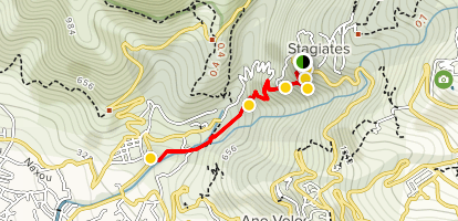 Stagiates to Volos Trail Map