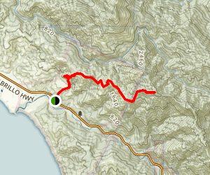 East Molera Trail to Post Summit [CLOSED] Map