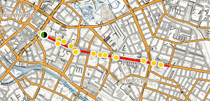 Karl-Marx-Allee Walking Tour Map