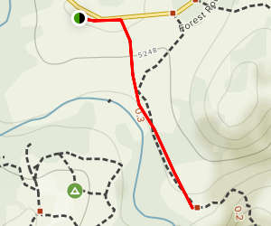 Lower Peppermint Campgrounds Map