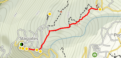 Stayates to Portaria Trail Map