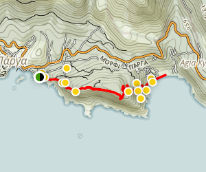 Piso to Lichnos Beach Trail Map