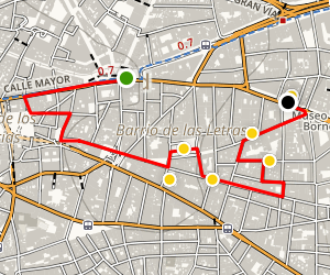 Madrid Literary Quarter Walking Tour Map