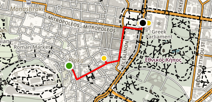 Athens Walking Tour for Kids Map