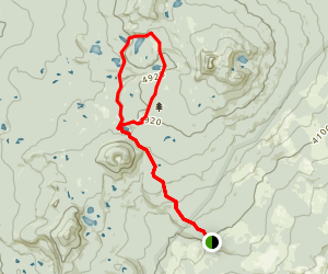 Indian Heaven Lakes Trail Map