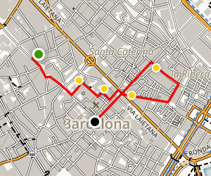Barcelona Gothic Quarter and the Old Town Walking Tour Map