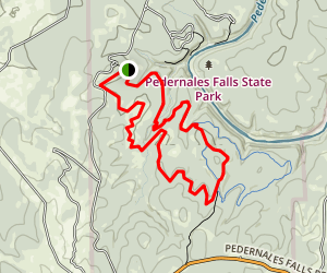 Pedernales Falls Loop Map