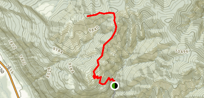 Baldy Trail to Baldy Peak Map