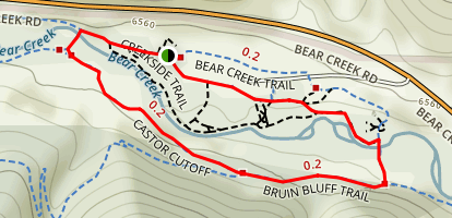 Castor Cut-Off Trail Map
