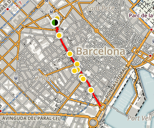 La Rambla Walking Tour Map