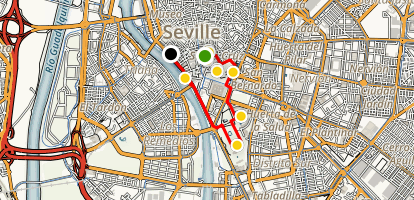 Seville Highlights Walking Tour Map